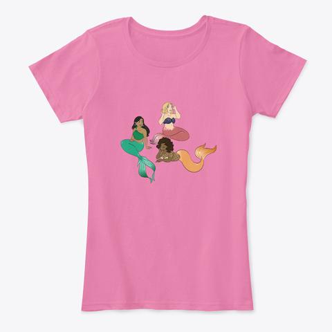 """Mermaids""   Jonah Kue True Pink T-Shirt Front"