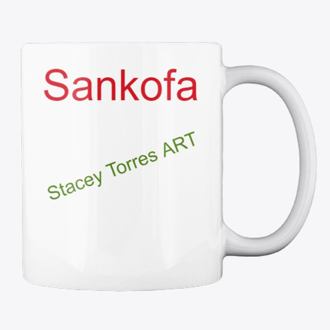 Sankofa By Stacey Torres White T-Shirt Back