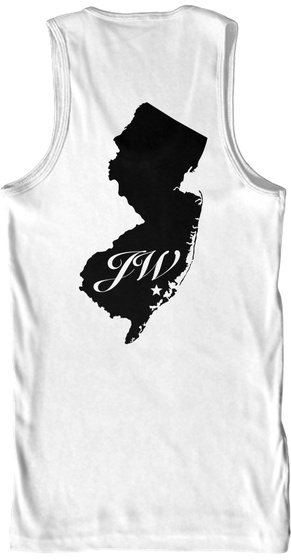 Jersey Wrestling White Tank Top Back