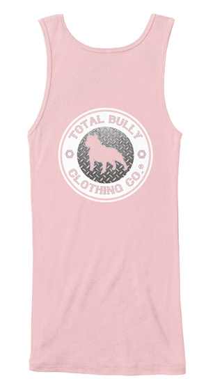 Total Bully   Original Fitted Bully Tank Soft Pink T-Shirt Back