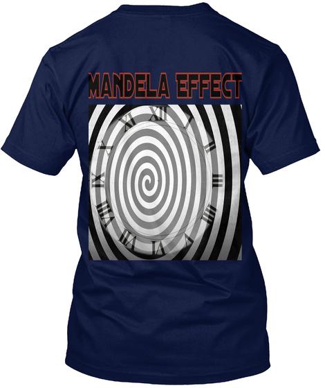 Mandela Effect Navy T-Shirt Back