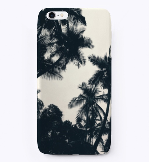 Palm Tree Case Black T-Shirt Front