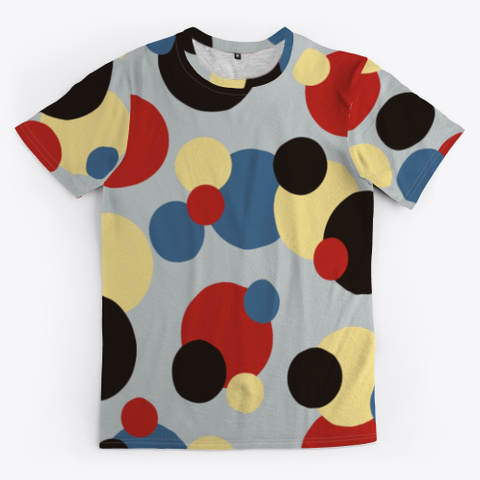 Abstract Multicolor Dots Standard T-Shirt Front