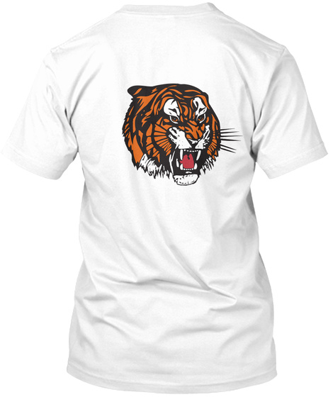 The Tiger All Round White T-Shirt Back