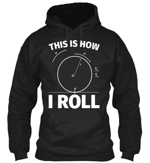 This Is How I Roll Funny Science Nerd Ph Black T-Shirt Front