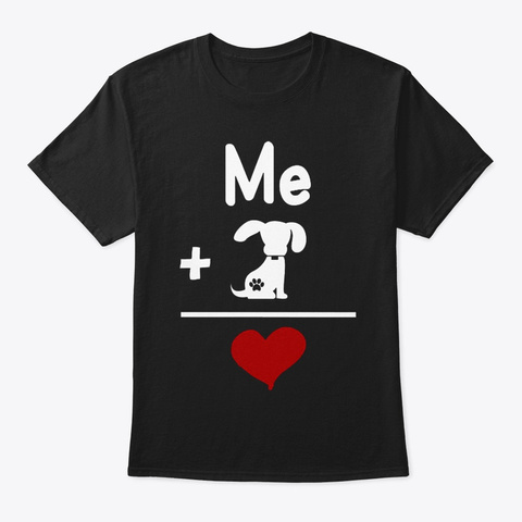 Dog Is Love T122 Black T-Shirt Front