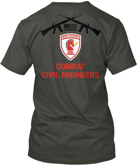 Combat Civil Engineers Smoke Gray T-Shirt Back