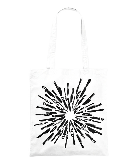 Knives Out, Knife Art White T-Shirt Front