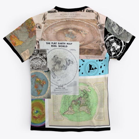 Many Many Maps Black T-Shirt Back