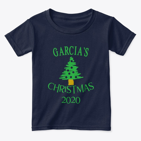 Garcia's Christmas 2020 Navy  T-Shirt Front