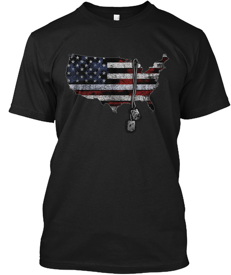 America Honors Veterans Black T-Shirt Front