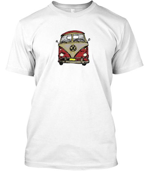Beach Bus 2 White T-Shirt Front
