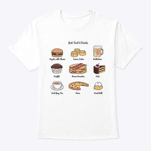 Geek Food White T-Shirt Front