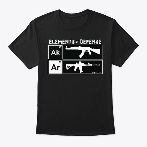 Ak & Ar: Elements Of Defense Black T-Shirt Front