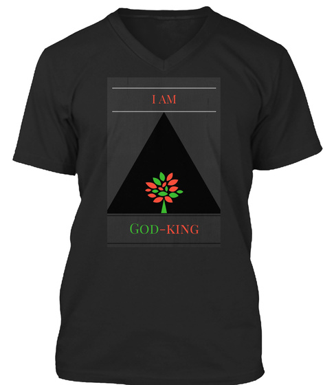 God Is Our Father, Earth Is Our Mother  Black T-Shirt Front