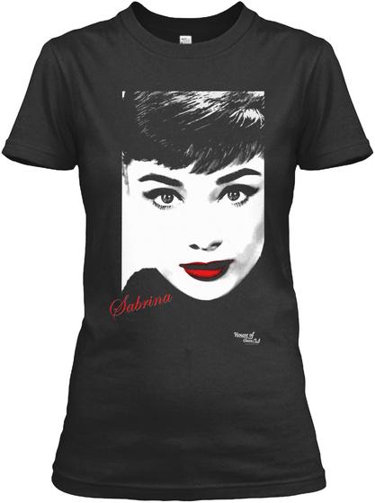 Sabrina Black T-Shirt Front