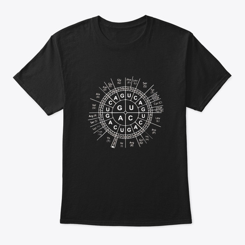 Awesome Biology Genetic Code Sun T Shirt Black T-Shirt Front