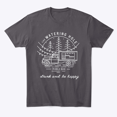 Drink And Be Happy (White)  Heathered Charcoal  T-Shirt Front