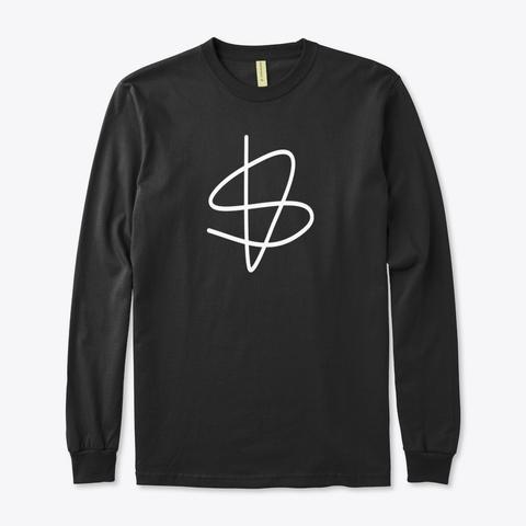 Organic Long Sleeve Tee: Sisu Sign Black T-Shirt Front