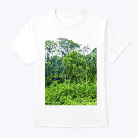 Amazon Rainforest – Safe The Big Green White T-Shirt Front