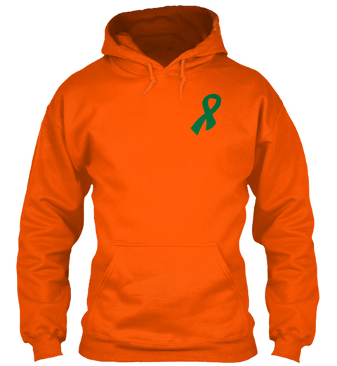 Liver Cancer Safety Orange Sweatshirt Front