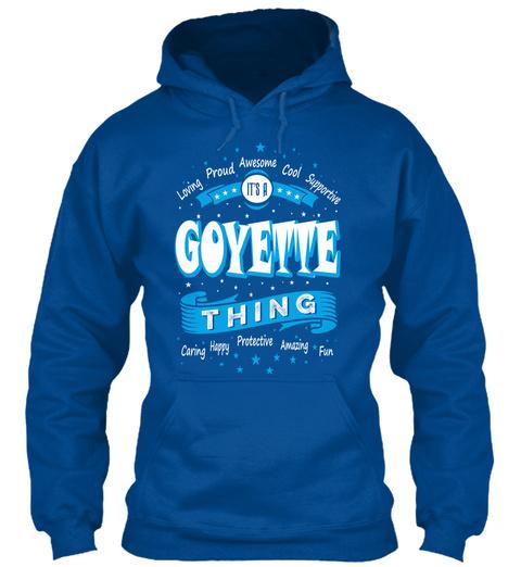 Name Goyette Christmas Weather Royal T-Shirt Front