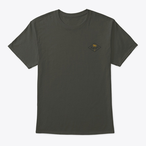 3 Palms Smoke Gray T-Shirt Front