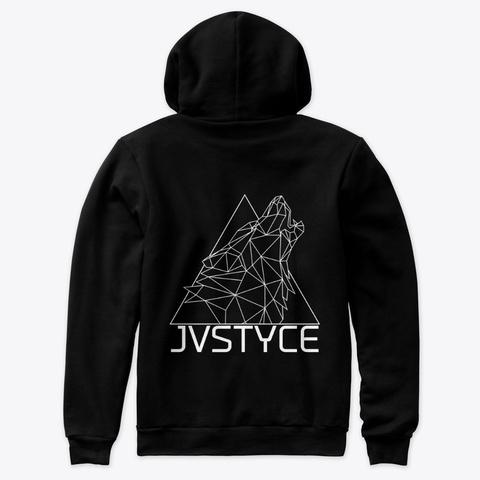 Jvstyce Wolf Pvck Merch Black T-Shirt Back