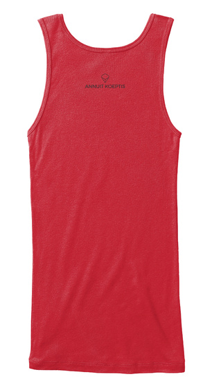 #Soar Red Women's Tank Top Back