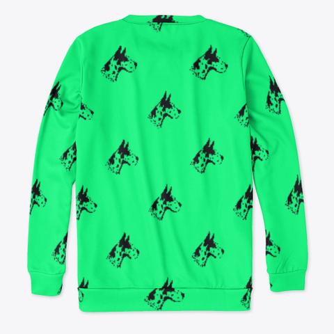 Green Great Dane Pattern Sweatshirt Standard T-Shirt Back