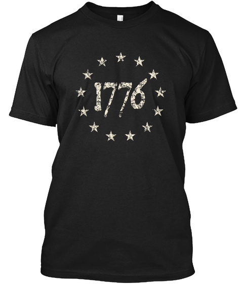 Freedom Isn't Free! Black T-Shirt Front