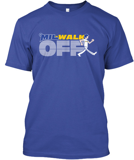 Mil Walk Off Deep Royal T-Shirt Front