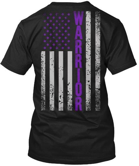 Warrior Black T-Shirt Back