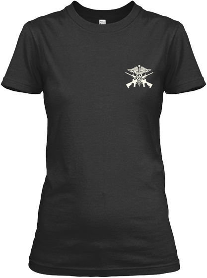 Proud Corpsman's Mom Shirt Black T-Shirt Front