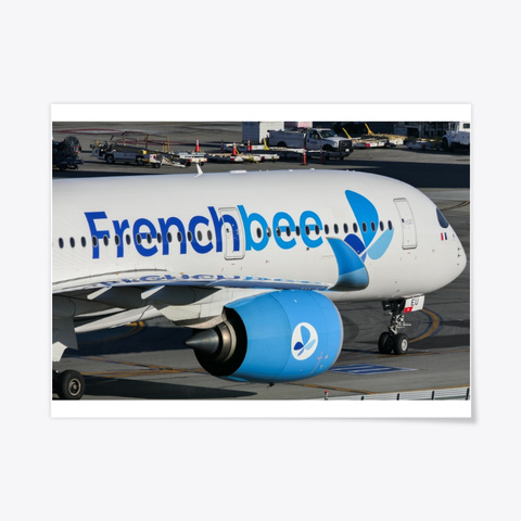 Frenchbee A350 White T-Shirt Front