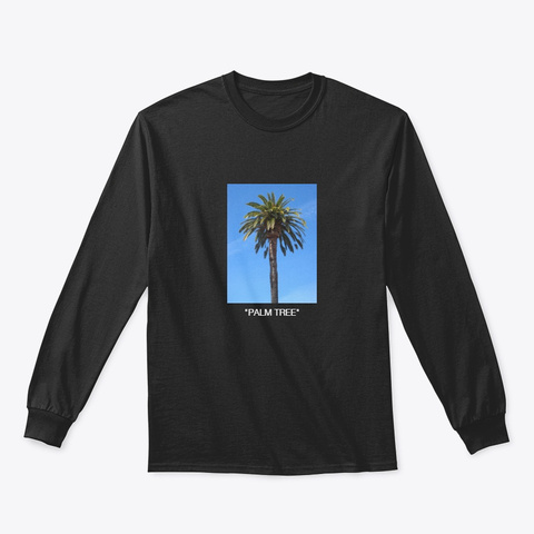 """Palm Tree"" Black T-Shirt Front"