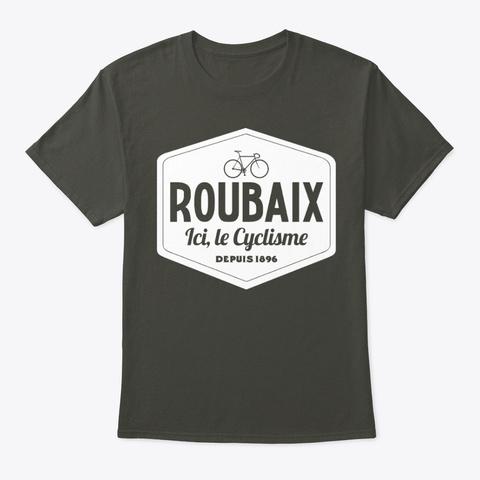 Roubaix Le Cyclisme Smoke Gray T-Shirt Front