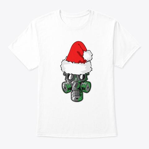 Santa Claus Face Mask Christmas Ornament White T-Shirt Front