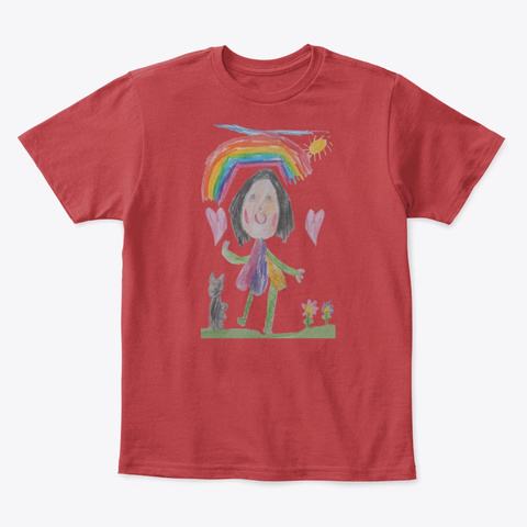 Emily And Ivy Classic Red T-Shirt Front