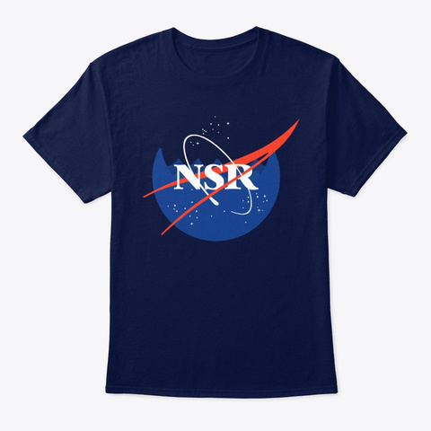 Nsr Space Station Navy T-Shirt Front