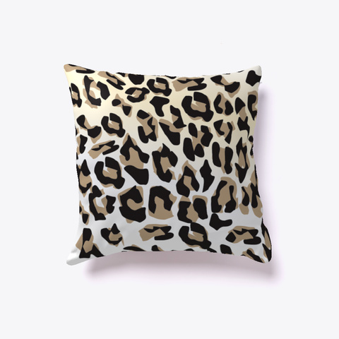 Leopard Pillow White T-Shirt Front