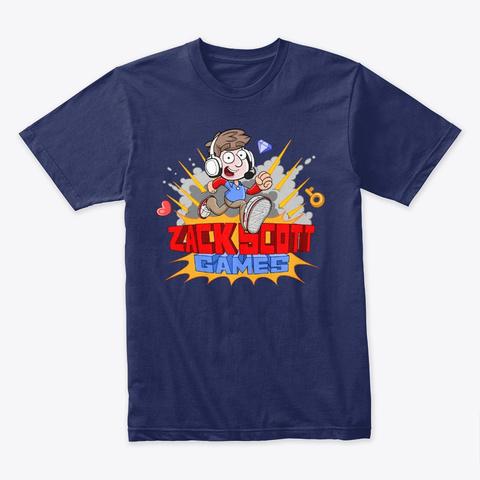 Zack Scott Games Animated Midnight Navy T-Shirt Front