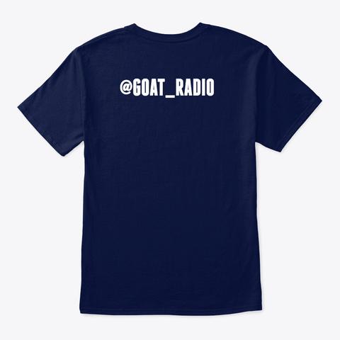 Goat Radio Gear Navy T-Shirt Back