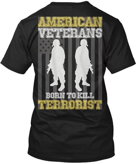 American Veterans   Ending Soon! Black T-Shirt Back