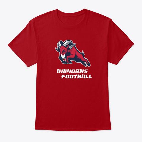 Texas Bighorns Deep Red T-Shirt Front