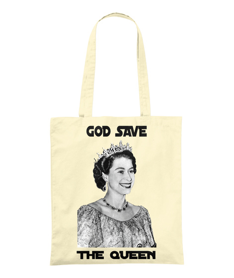 God Save The Queen Natural T-Shirt Front