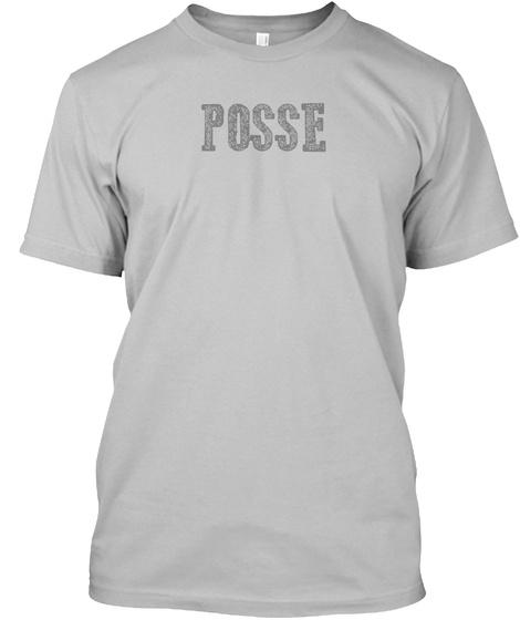 Posse Sport Grey T-Shirt Front