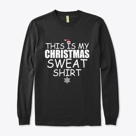 Christmas Carnival Sweater Black T-Shirt Front