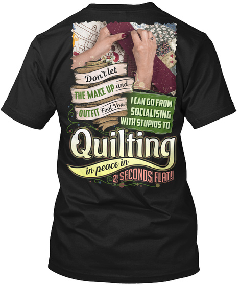 Quilting Black T-Shirt Back