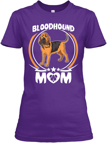 Bloodhound Dog Mom Shirt Mothers Day Purple T-Shirt Front